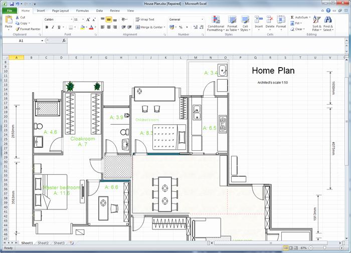 Excel Floor Plan Template Beautiful Create Floor Plan for Excel