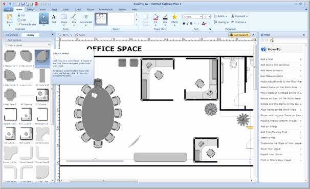 Excel Floor Plan Template Inspirational Make Charts forms Maps and More with Smartdraw Vp