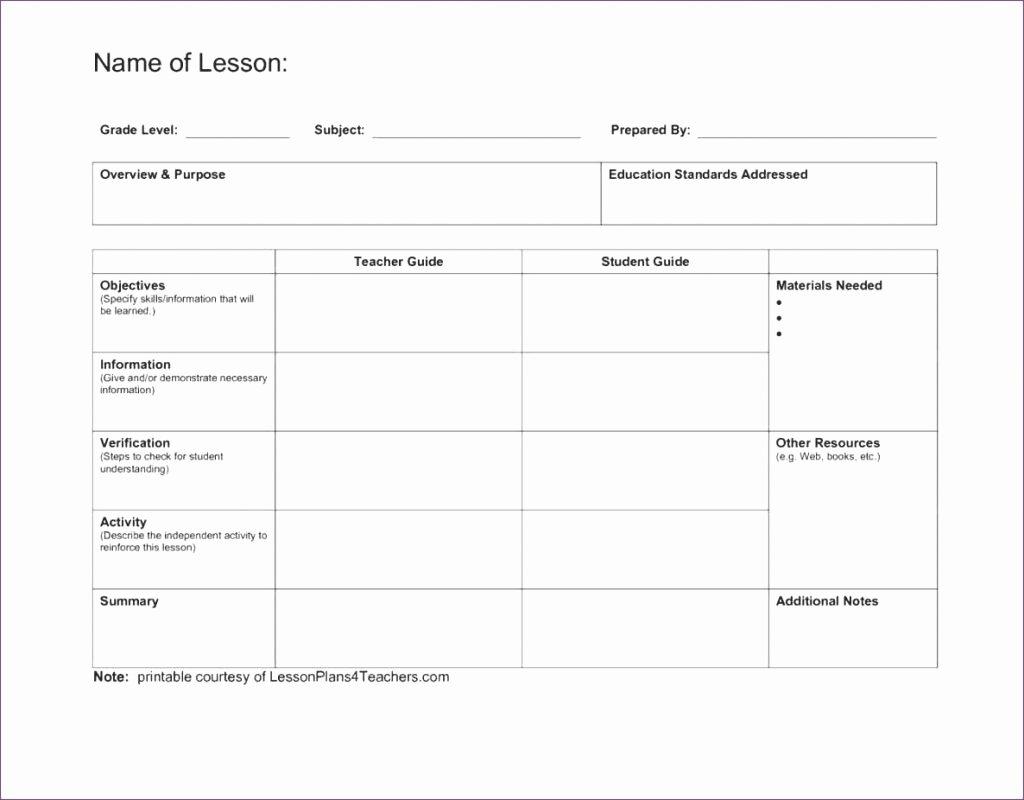 Excel Lesson Plan Template Best Of Unit Plan Calendar Template