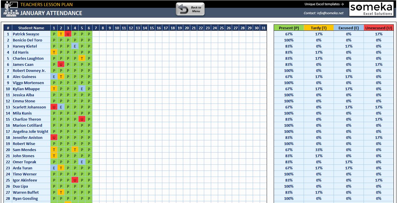 Excel Lesson Plan Template Unique Teacher Lesson Plan Template Free Lesson Plan for