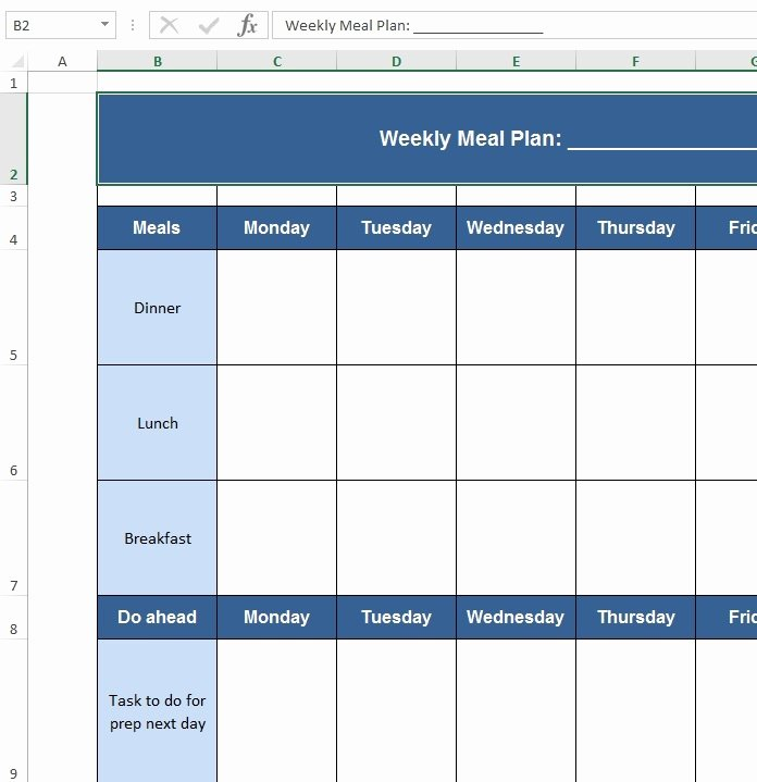 Excel Meal Plan Template Beautiful Download Free Excel Examples Downloadexceltemplate
