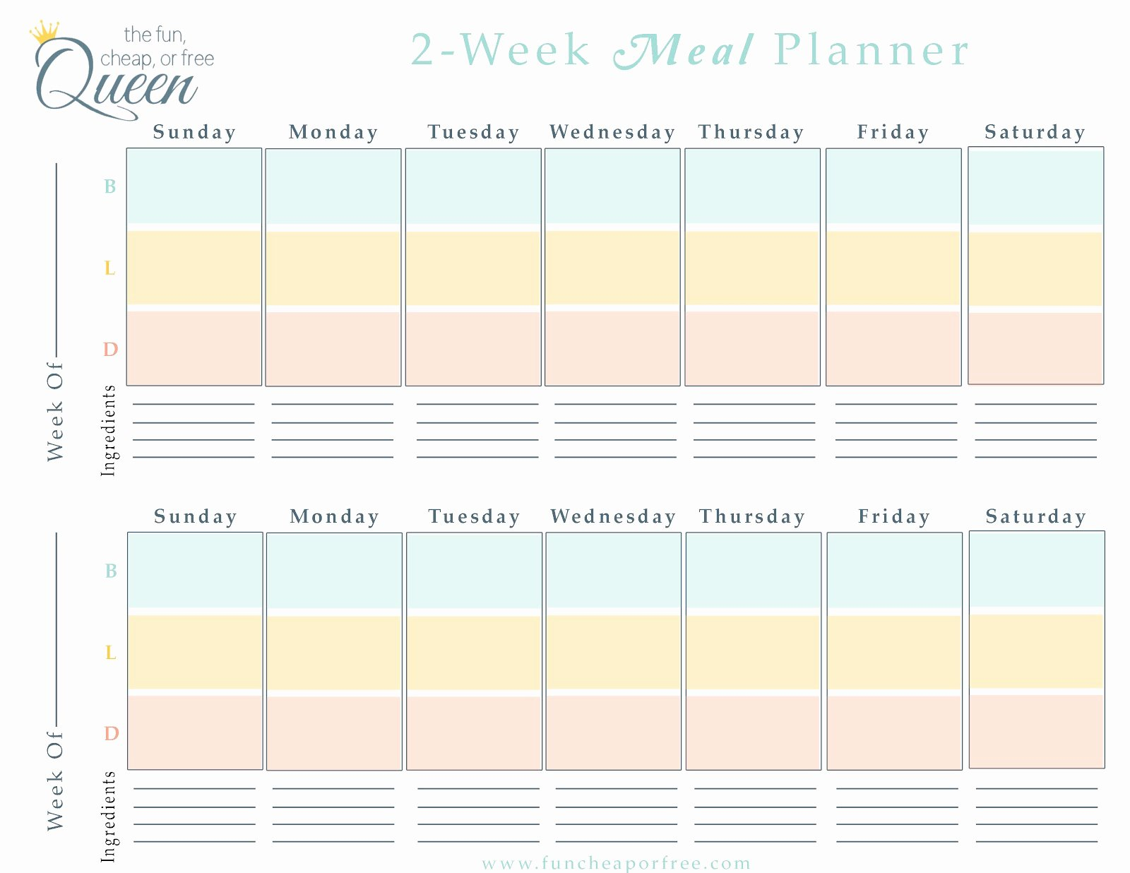 Excel Meal Plan Template Luxury Free Menu Planner Template Portablegasgrillweber