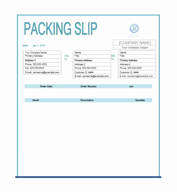 Excel Packing Slip Template Awesome 30 Free Packing Slip Templates Word Excel Template