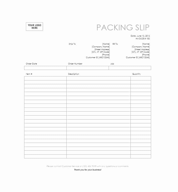 Excel Packing Slip Template Fresh 30 Free Packing Slip Templates Word Excel Template
