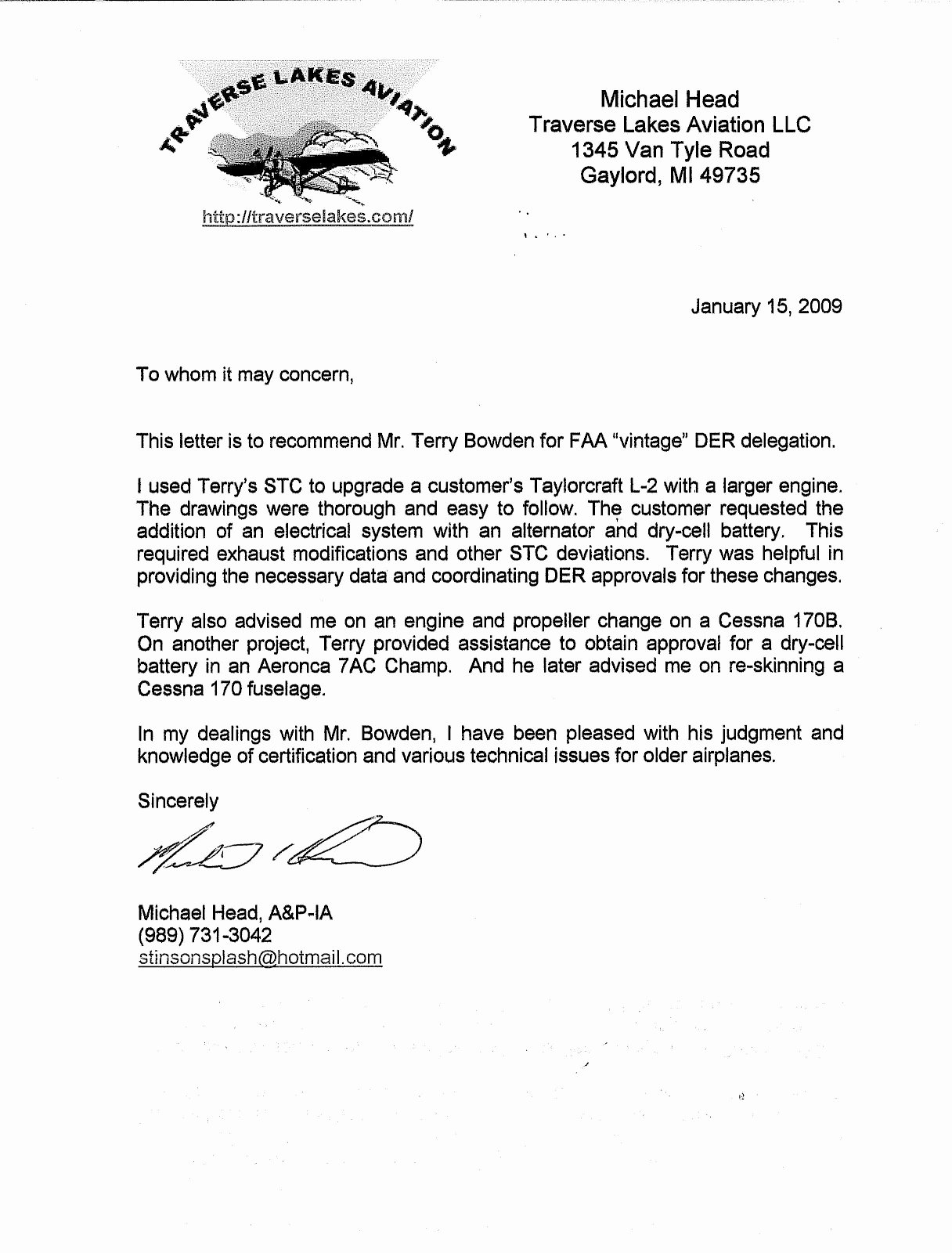 Faa Letter Of Recommendation Sample Elegant Terry Bowden Consultant Der Re Mended