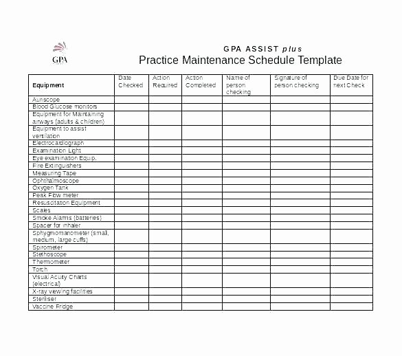 Facility Maintenance Plan Template Beautiful Truck Service Checklist Template