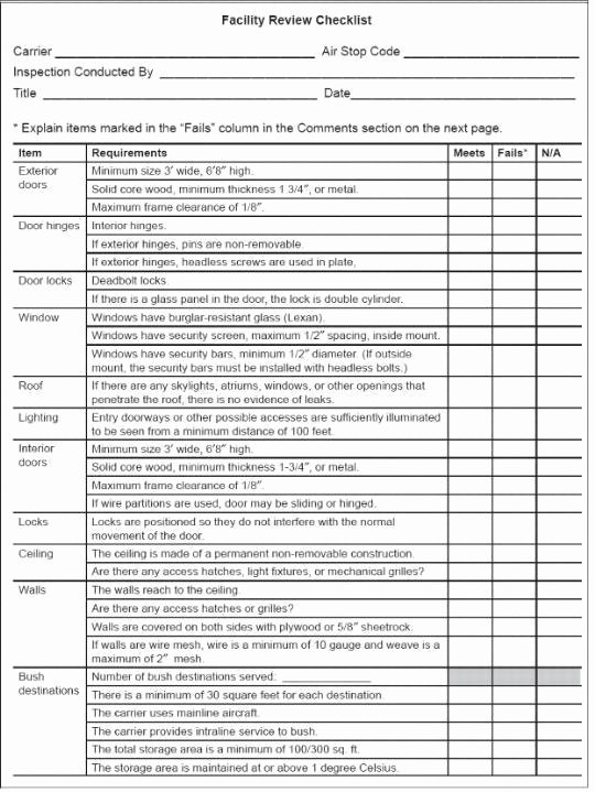 Facility Maintenance Plan Template New 4 Facility Maintenance Checklist Templates Excel Xlts