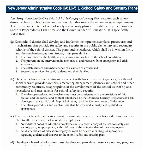 Facility Security Plan Template Best Of Sample Security Plan Template 10 Free Documents In Pdf