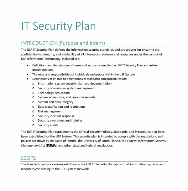 Facility Security Plan Template Inspirational 10 Security Plan Templates