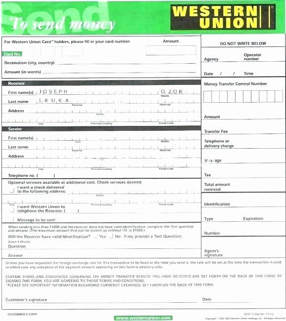 Fake Bank Transfer Generator Fresh Western Union Receipt Western Union Money Transfer Receipt
