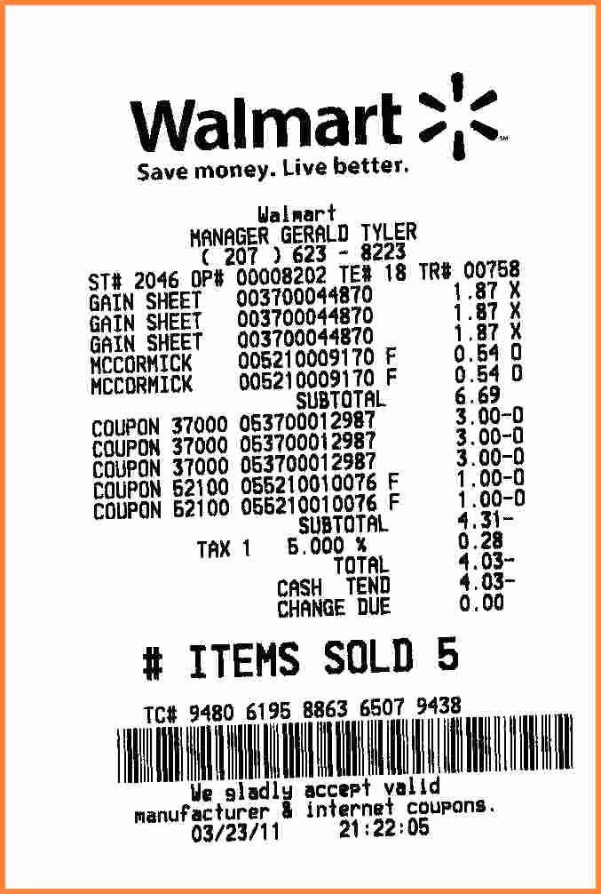 Fake Best Buy Receipt Elegant 10 Walmart Receipt Template Proposal Letter