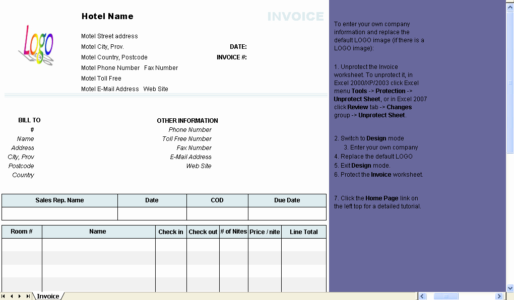 Fake Hotel Receipt Template New Hotel Invoice Template Uniform Invoice software