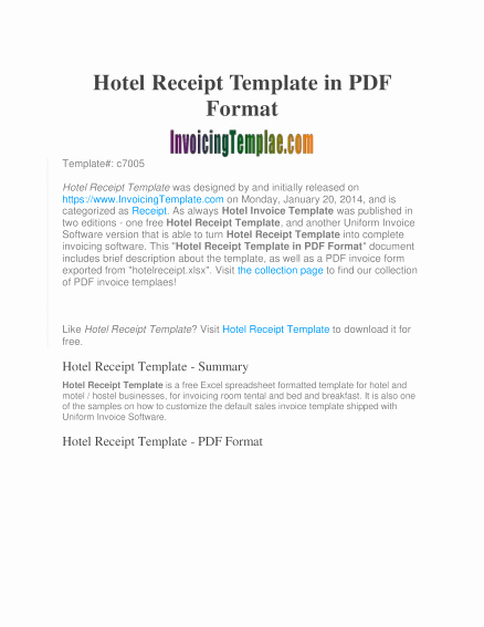Fake Hotel Receipt Template New Hotel Receipts Template Letter Examples Fake Sample