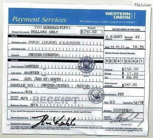 Fake Money order Receipt Elegant Scamorama
