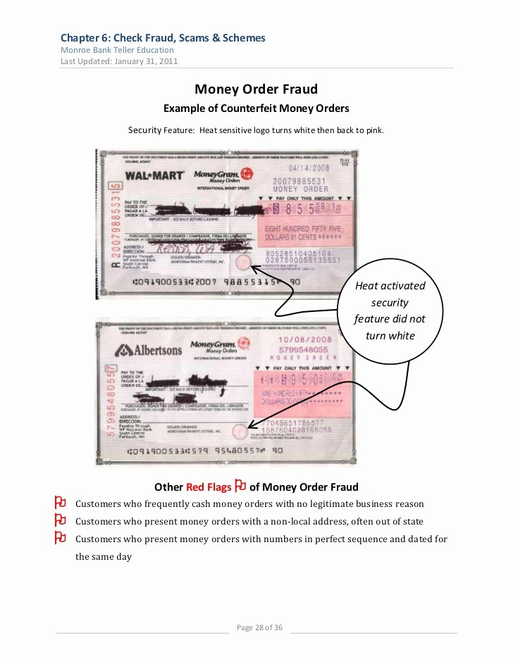 Fake Money order Receipt Luxury Chapter 6 Check Fraud Final