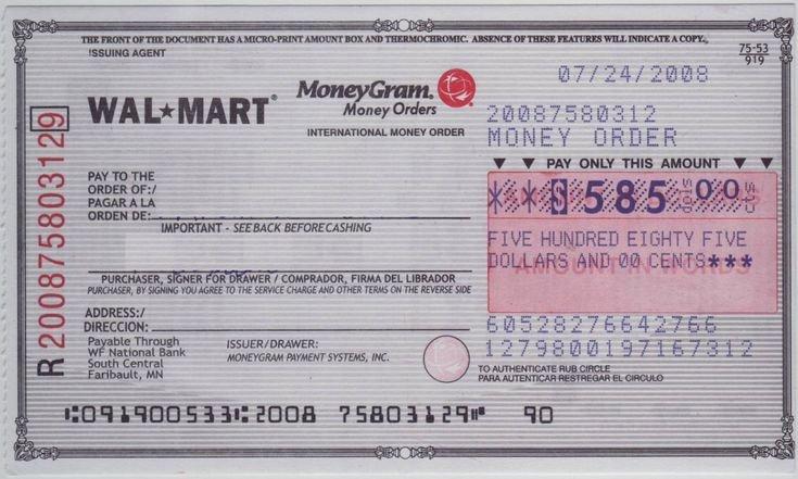 Fake Money order Template Luxury Blank Check Sample
