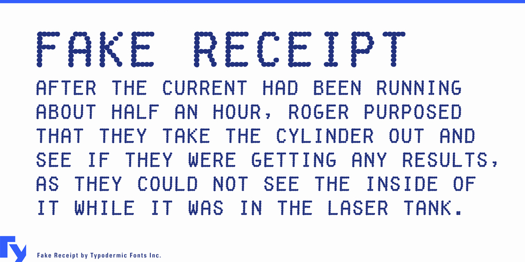 Fake Receipt Generator Download Awesome Fake Receipt Font · 1001 Fonts