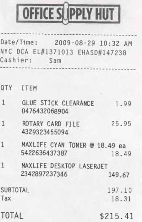 expense your lavish meal with fake receipts 2009 10