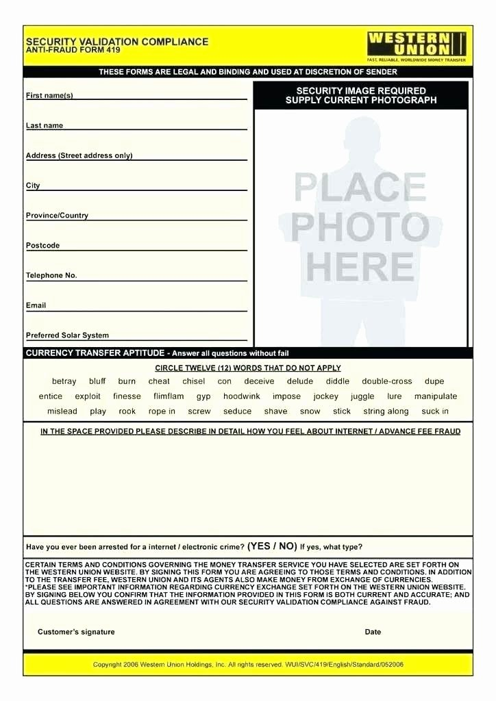 Fake Western Union Receipt Generator Fresh Fake Western Union Receipt Template