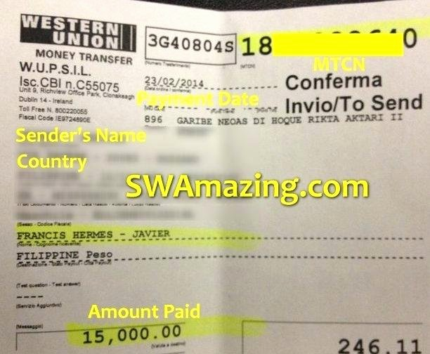 Fake Western Union Receipt Generator Lovely Western Union Transfer Receipt Western Union form to Send