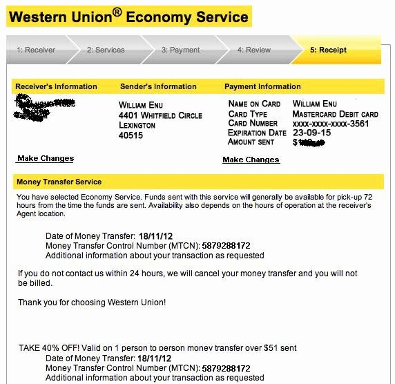 Fake Western Union Receipt Lovely Sell Cvv All Country Western Union Transfer Dumps