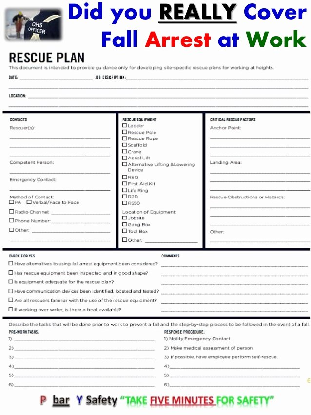 Fall Protection Plan Template Best Of Did You Really Cover Fall Arrest at Work Show Me the