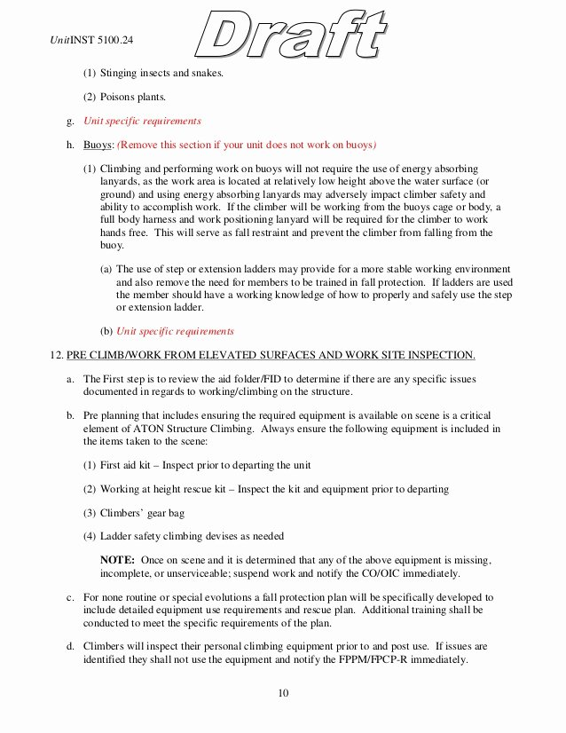 Fall Protection Plan Template Unique Fall Protection Plan Example Template