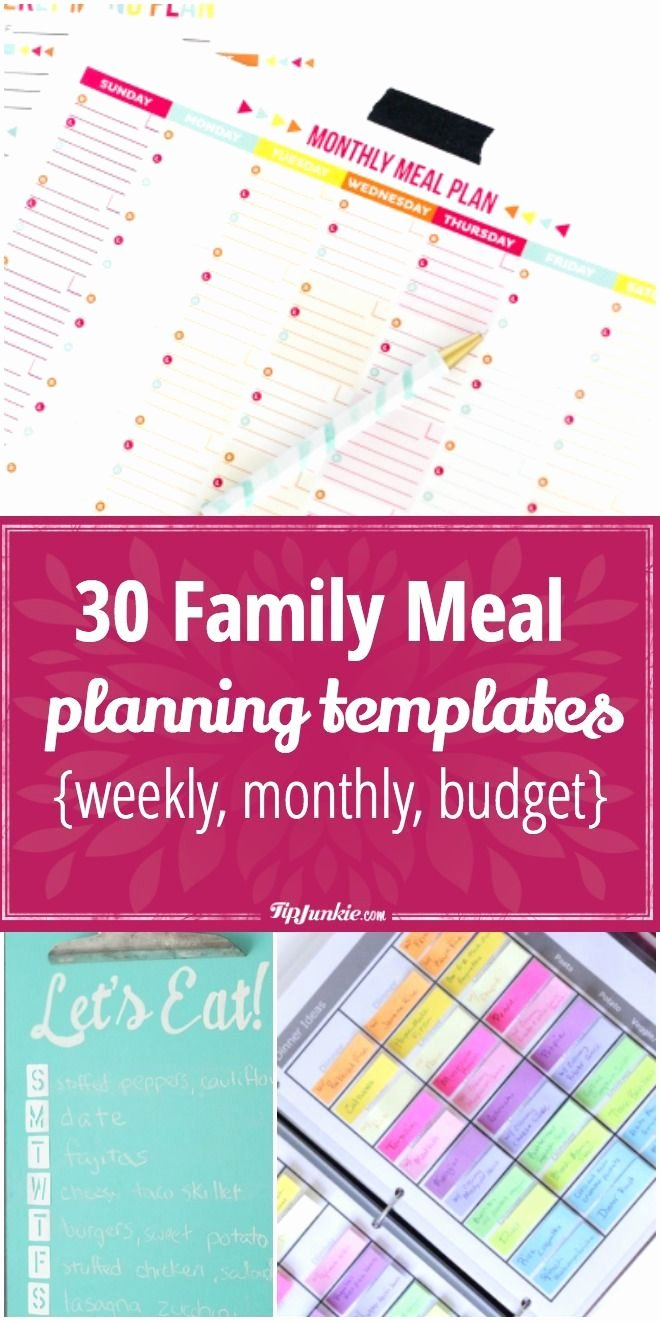 Family Meal Plan Template Beautiful Best 25 Meal Planning Templates Ideas On Pinterest