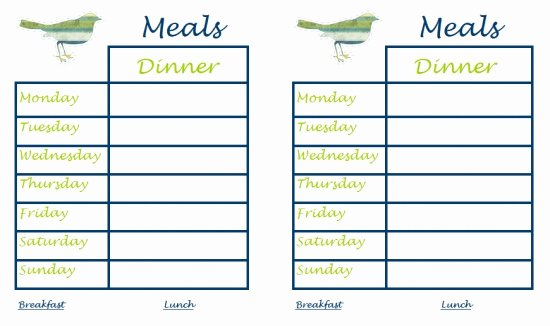Family Meal Plan Template Best Of 30 Family Meal Planning Templates Weekly Monthly Bud