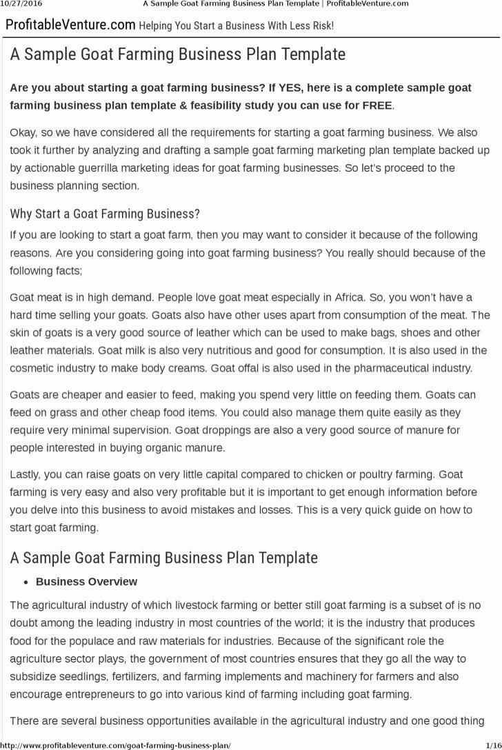 Farm Business Plan Template Best Of 7 Farm Business Plan Templates Free Download