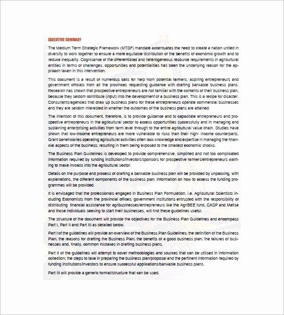 Farm Business Plan Template Best Of Farm Business Plan Template 16 Word Excel Pdf format