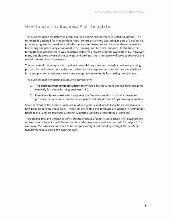 Farm Business Plan Template Elegant 10 Farm Business Plan Template Pdf Word