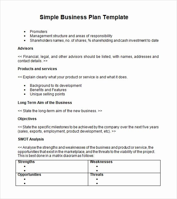 Farm Business Plan Template Lovely Simple Business Plan Templates Creating A Business Plan