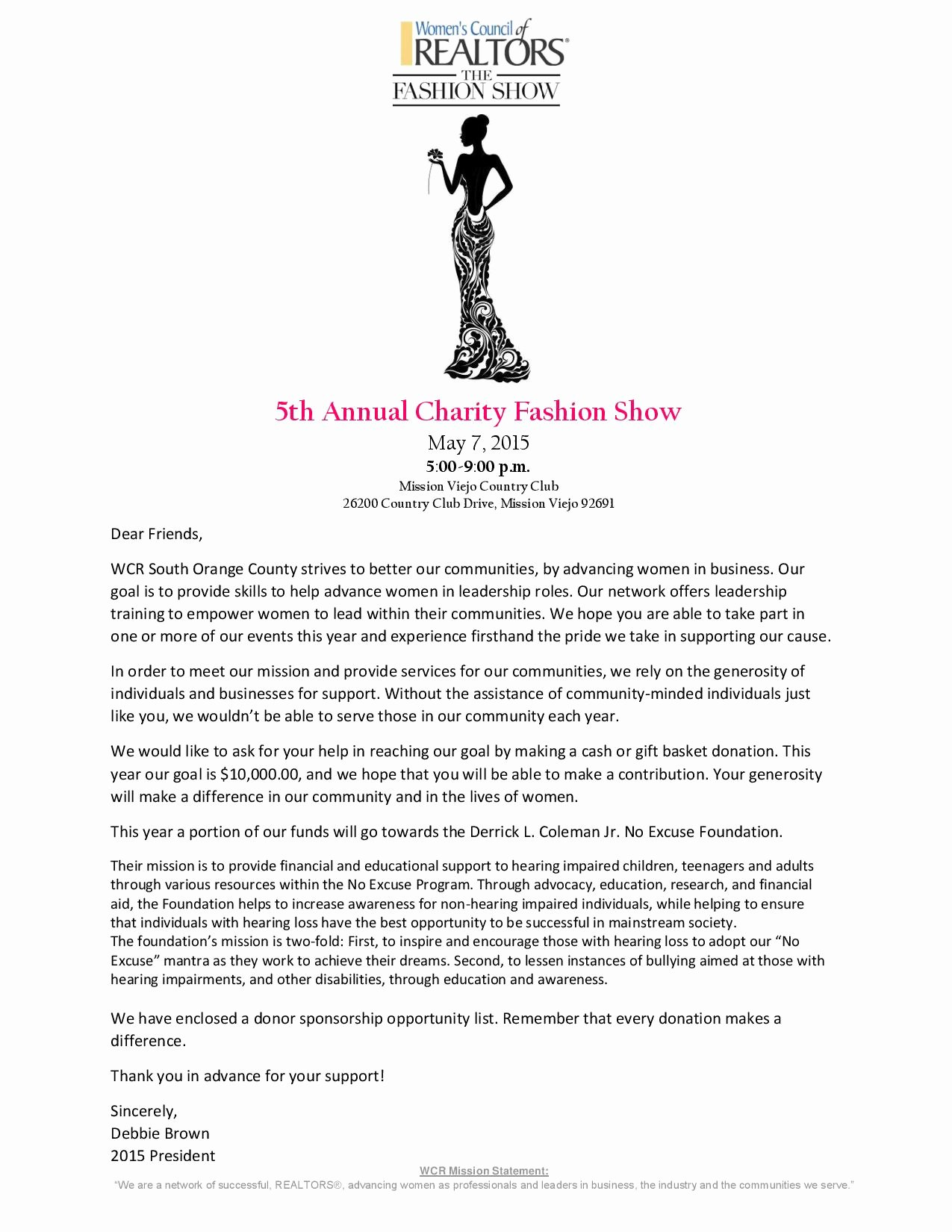 Fashion Show Sponsorship Letter Beautiful Wcrsoc 5th Annual Fashion Show Oc Lifestyle — Oc Lifestyle