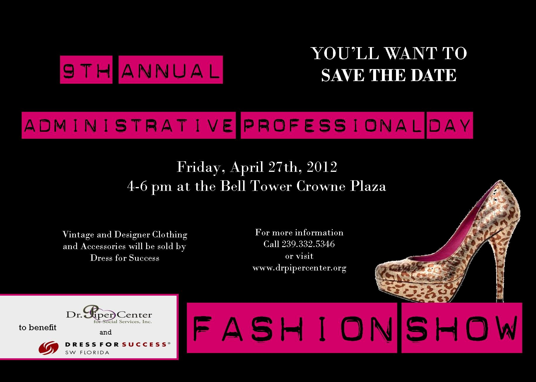 Fashion Show Sponsorship Letter Lovely 9th Annual Administrative Professional Day Fashion Show