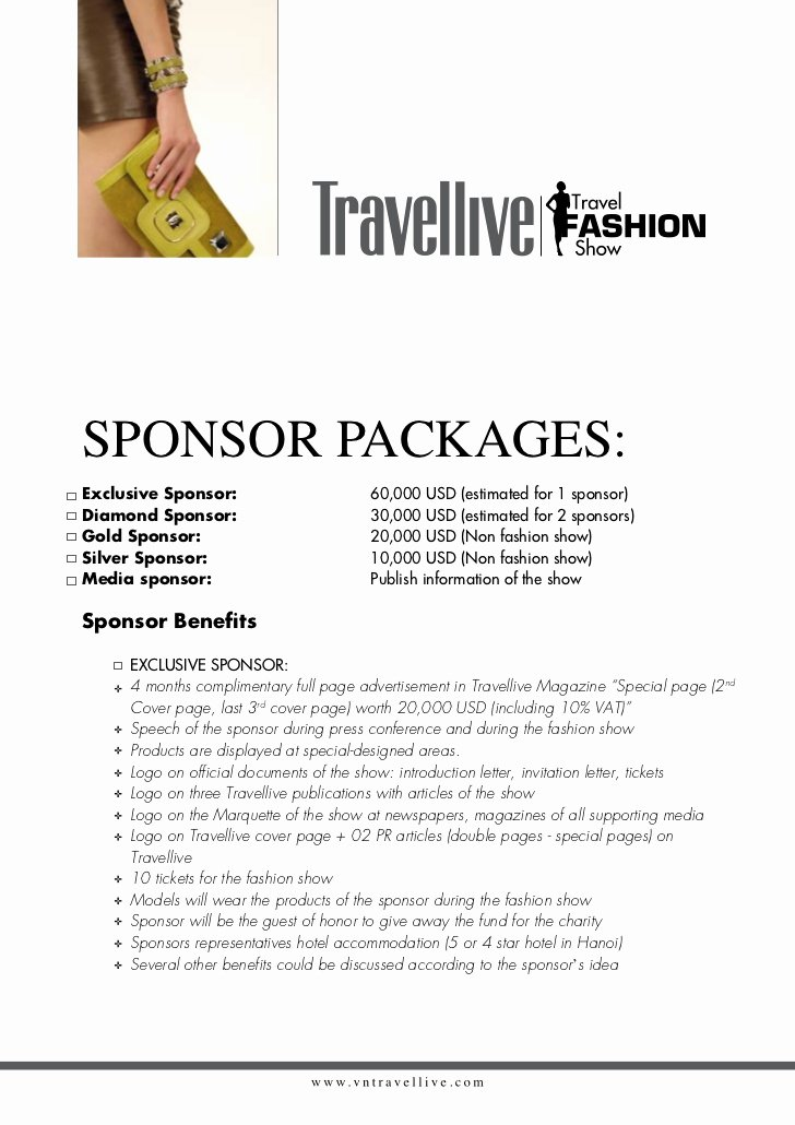 Fashion Show Sponsorship Letter Lovely Summer Vacation Fashion for Life