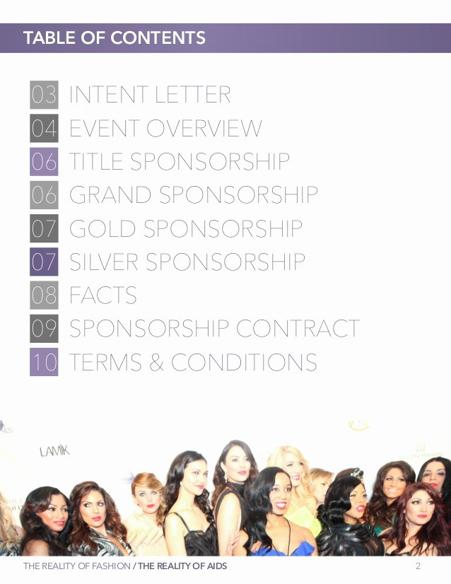 Fashion Show Sponsorship Letter New Second Annual the Reality Of Fashion the Reality Of Aids