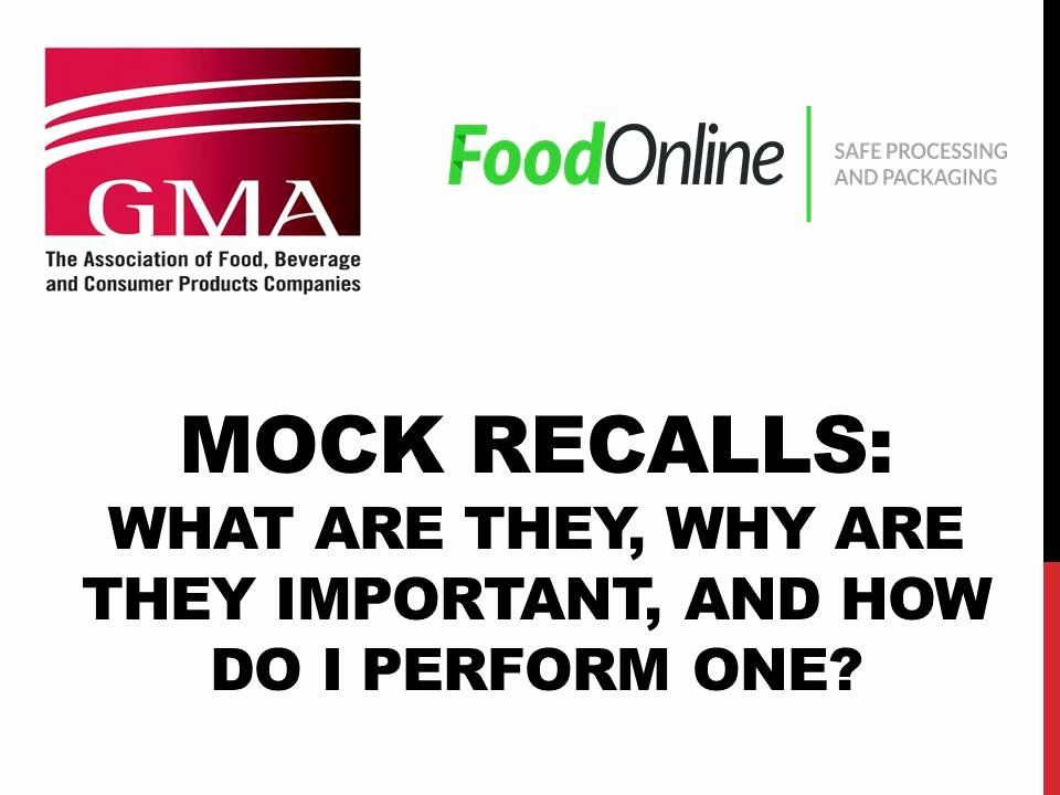 Fda Recall Plan Template Best Of Mock Recalls What are they why are they Important and