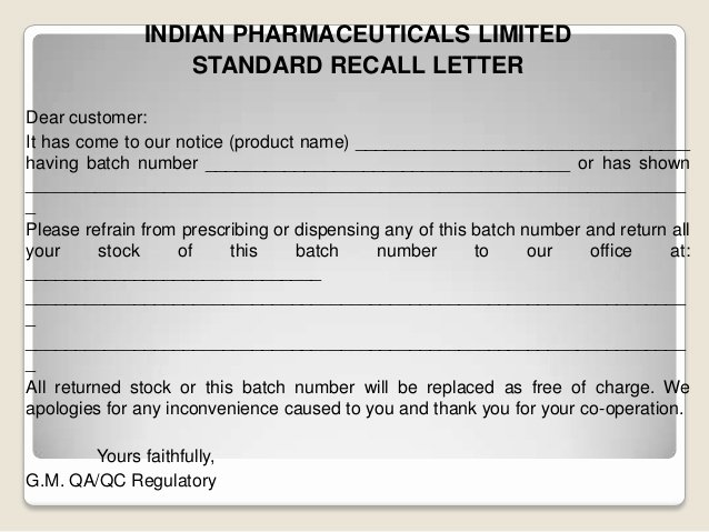Fda Recall Plan Template Fresh Plaint Handling In Pharmaceutical Panies Product