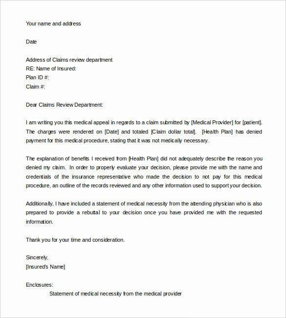 Fema Appeal Letter Template Fresh 17 Appeal Letter Templates Free Sample Example format