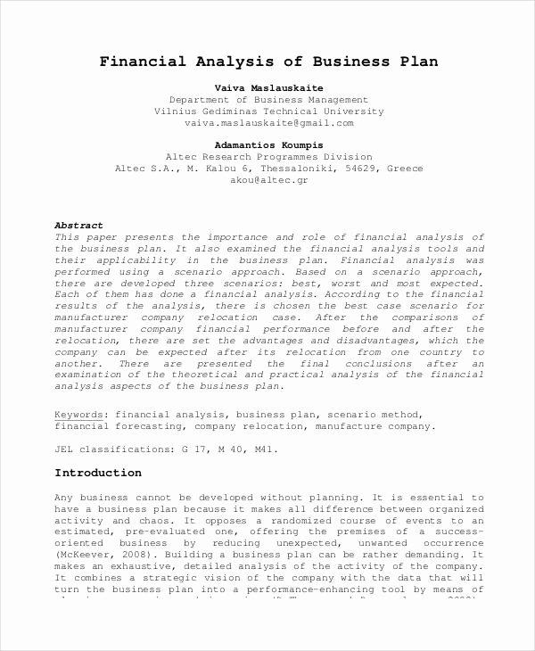 Financial Advisor Business Plan Template Beautiful Basic Business Plan Templates 12 Free Pdf format
