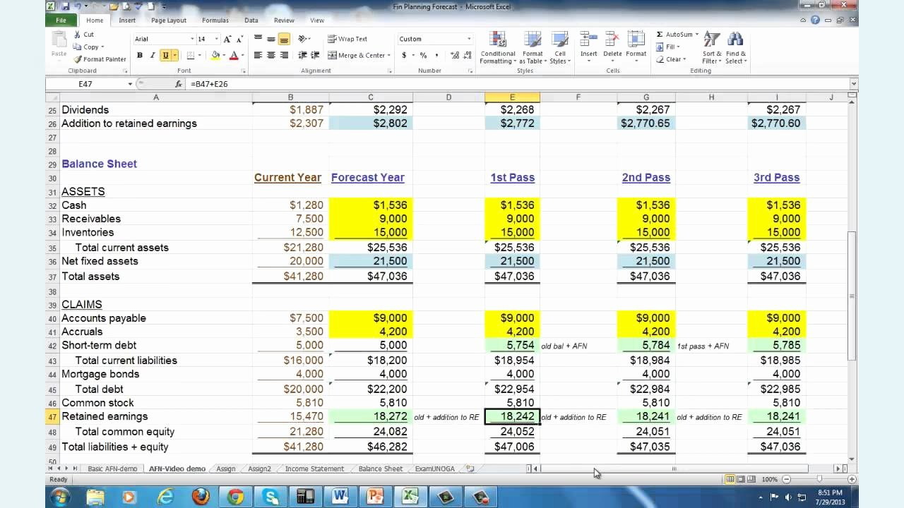 Financial Advisor Business Plan Template Elegant Financial Planning & forecasting Spreadsheet Modeling