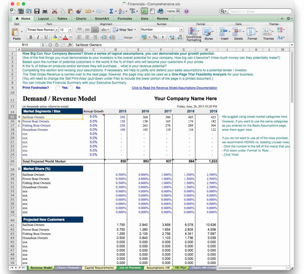 Financial Advisor Business Plan Template Luxury Business Plan Financial Model Template Bizplanbuilder