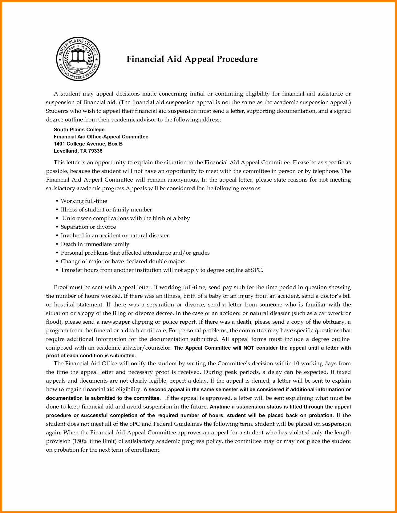 Financial Aid Appeal Letter format Luxury Financial Aid Appeal Letter