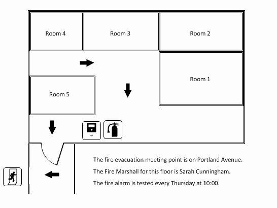 Fire Escape Plan Template Awesome Create A Fire Evacuation Plan In Visio Putergaga Blog