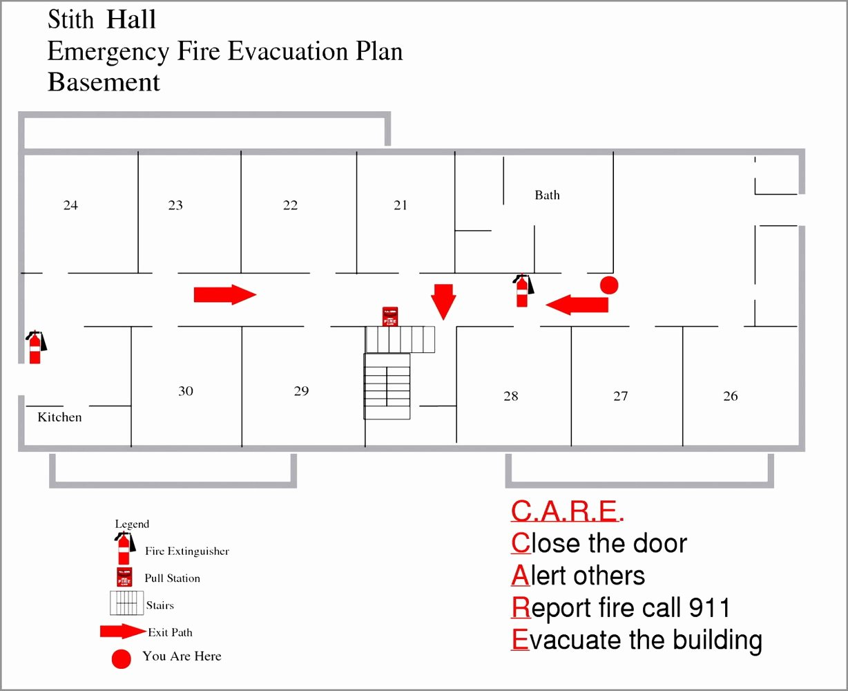 Fire Escape Plan Template Beautiful Fire Evacuation Plan Template for Home Templates