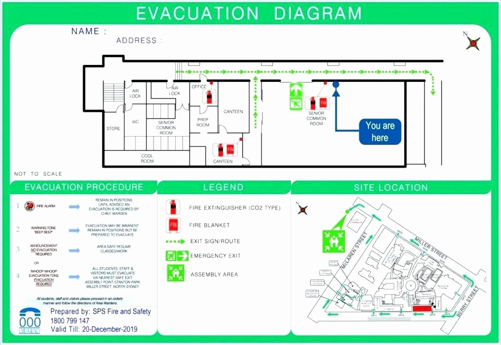 Fire Escape Plan Template Best Of Home Emergency Evacuation Plan Template Floor with