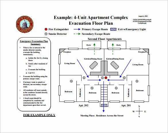 Fire Escape Plan Template Elegant Emergency Evacuation Plan Template Free Templates