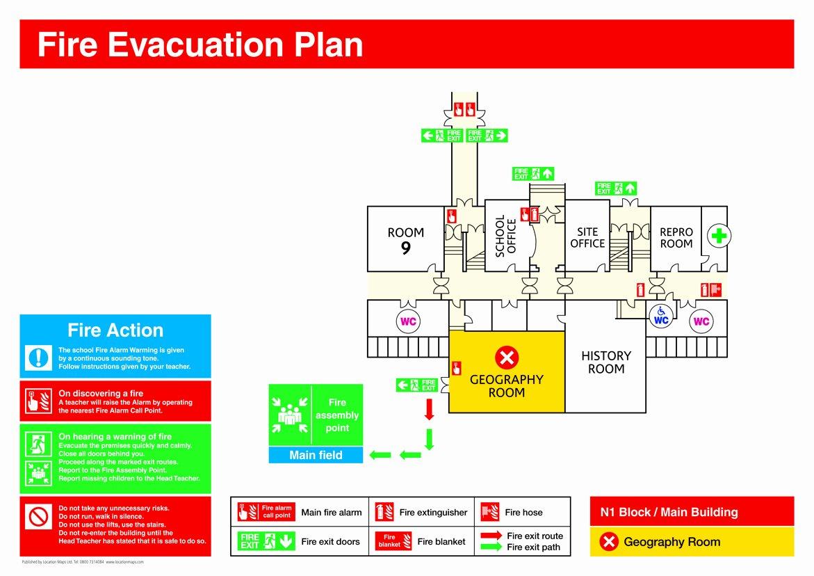 Fire Escape Plan Template Elegant Fire Evacuation Plans Fire Escape Plans and Fire assembly