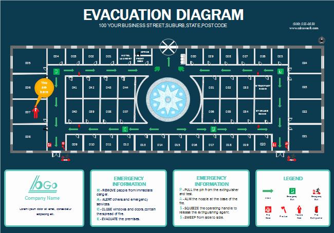 Fire Escape Plan Template Elegant Hotel Fire Escape Plan